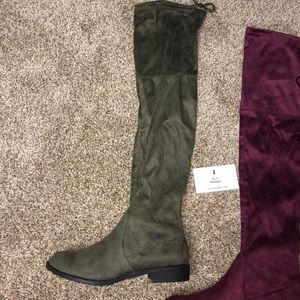 Olive Over The Knee Boots | MAKE A OFFER